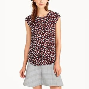 J.CREW Shattered glass print blouse 10